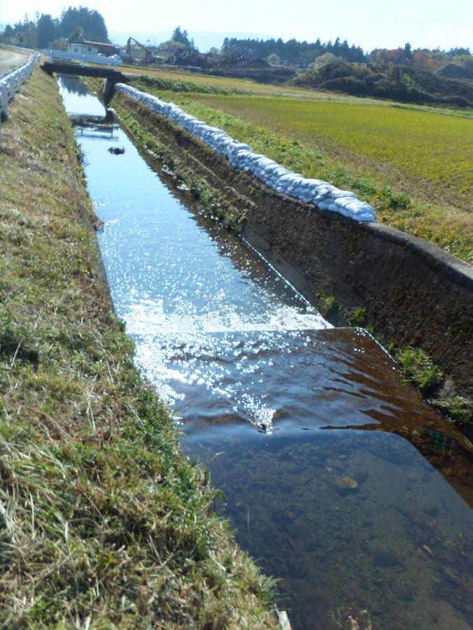 氾濫防止の土嚢